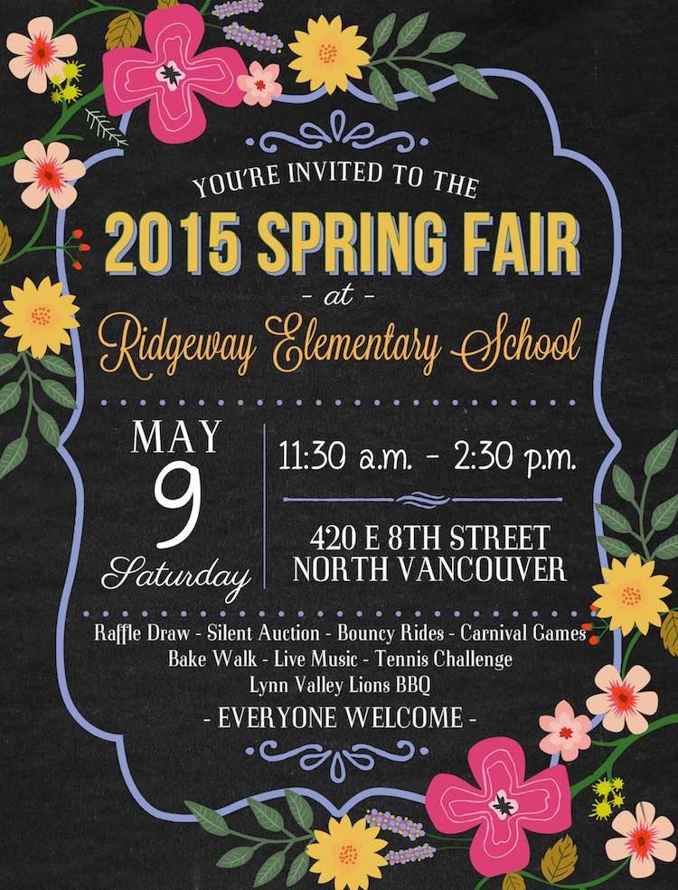 Ridgeway Spring Fair in North Vancouver