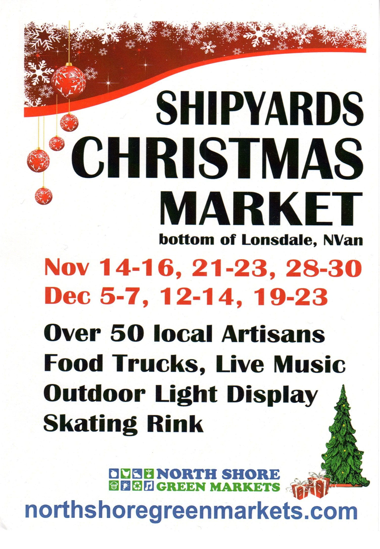 Shipyards Christmas Market North Vancouver
