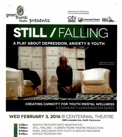 """Green Thumb Theatre Presents€"""" Still/Falling at the Centennial Theatre North Vancouver"""