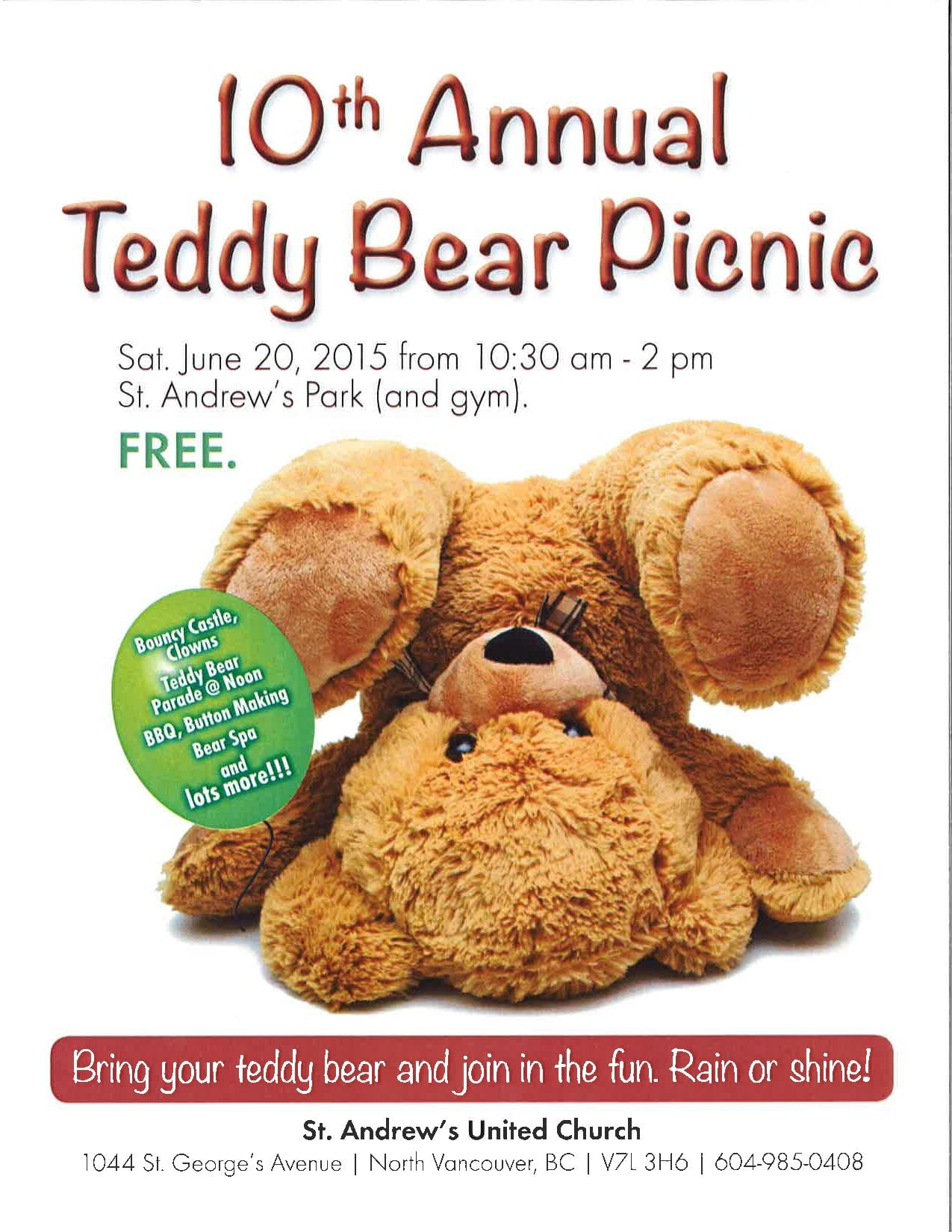 10th Annual Teddy Bear Picnic at St. Andrew's Park in North Vancouver