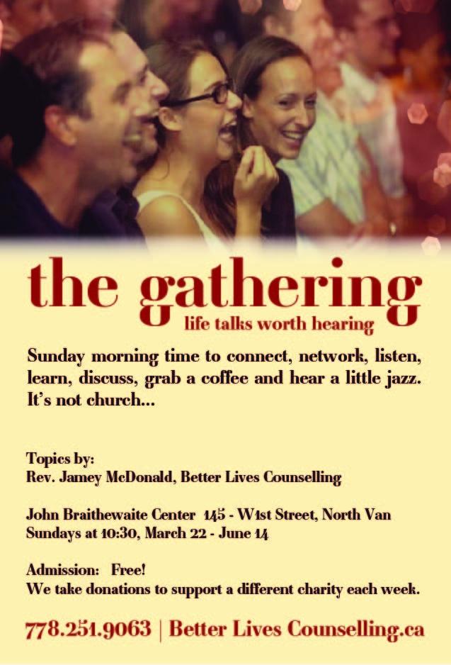 The Gathering – Sunday Networking at John Braithewaite Center