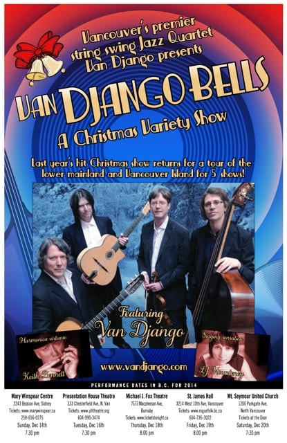 Van Django Bells – A Christmas Variety Show at the Presentation House Theatre