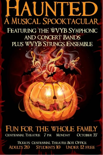 West Vancouver Youth Band Society presents HAUNTED – A Musical Spooktacular