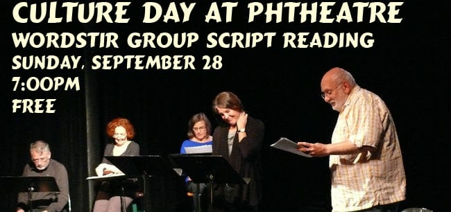 WordStir Group Script Reading at the Presentation House Theatre
