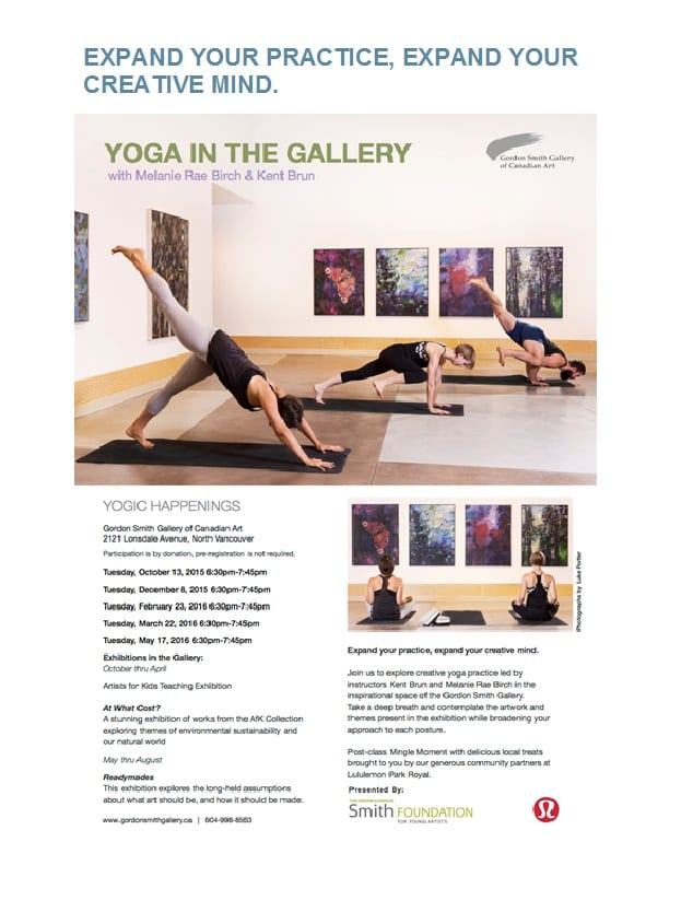 Yoga In The Gordon Smith Gallery of Canadian Art North Vancouver