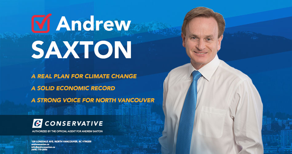 Vote Andrew Saxton MP North Vancouver Election 2019