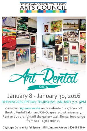 Art Rental Show at the CityScape Community Art Space North vancouver