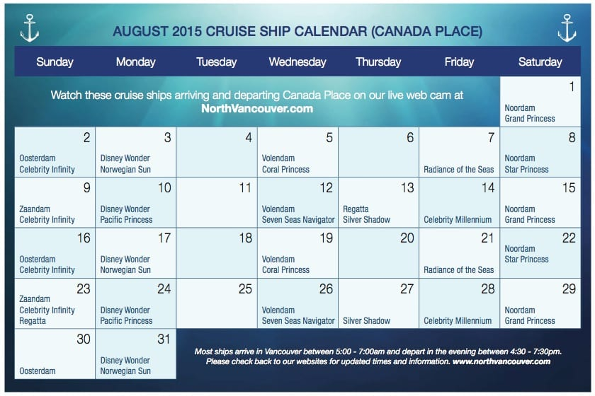 Vancouver Alaska Cruise Ship Guide