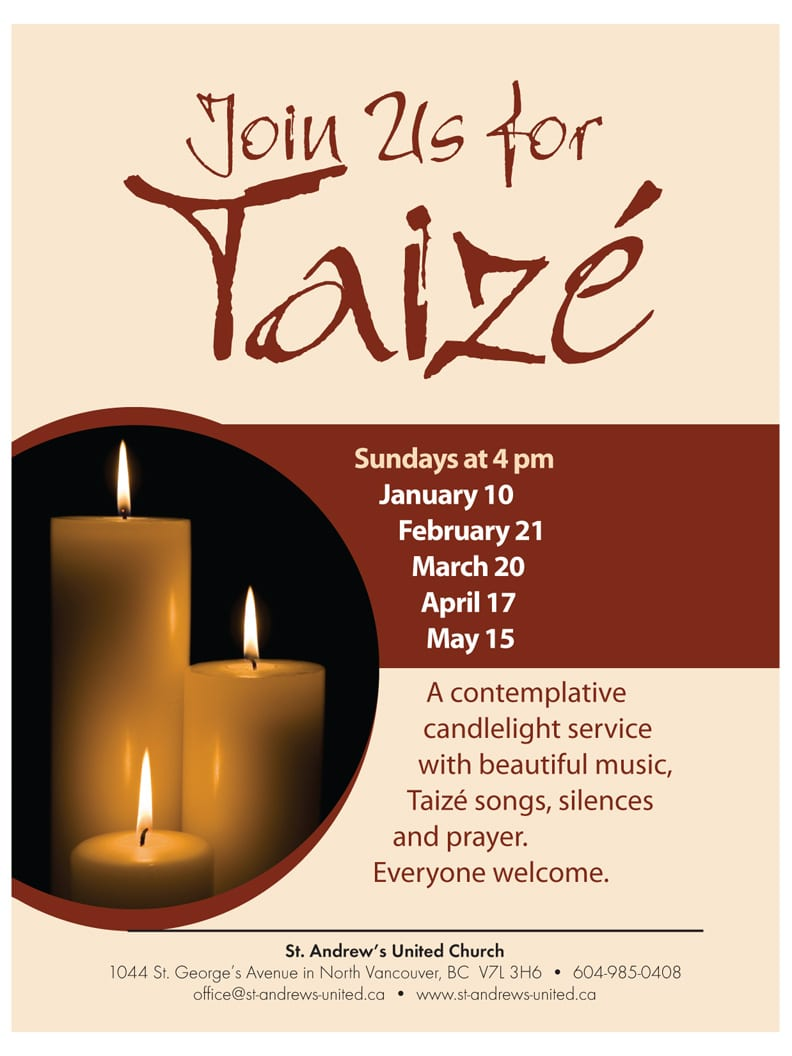 Taizé Contemplative Service at St. Andrew's United Church North Vancouver
