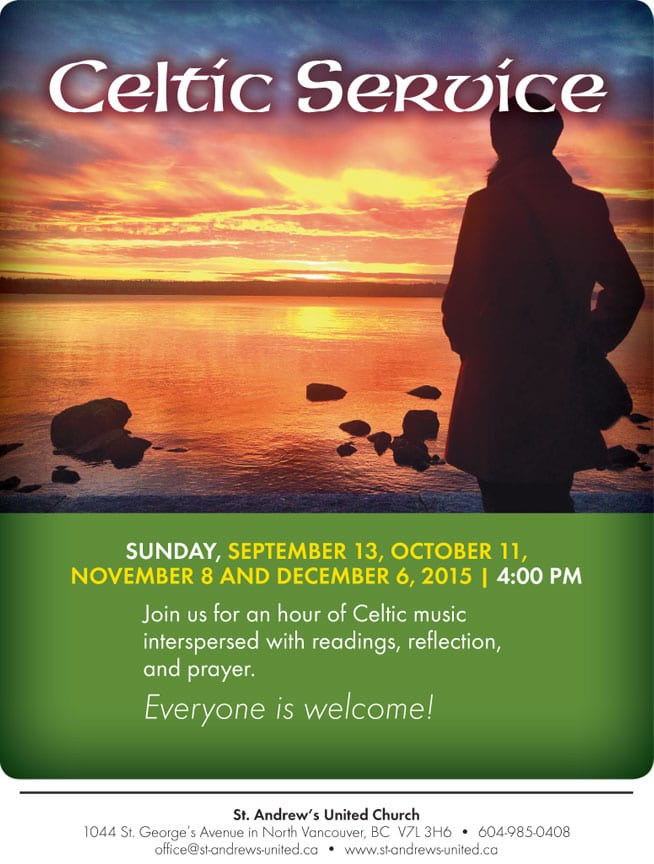 Celtic Service at St. Andrew's United Church North Vancouver