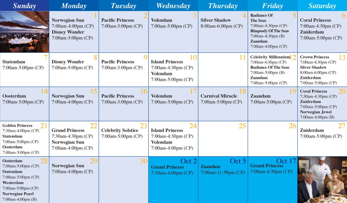 Star princess current itinerary for celebrity