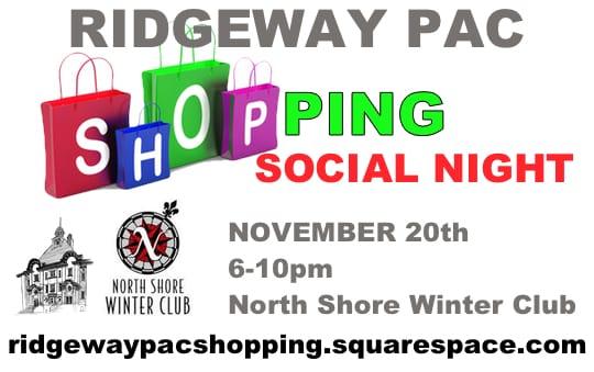 Ridgeway Community Shopping & Social Night at the North Shore Winter Club