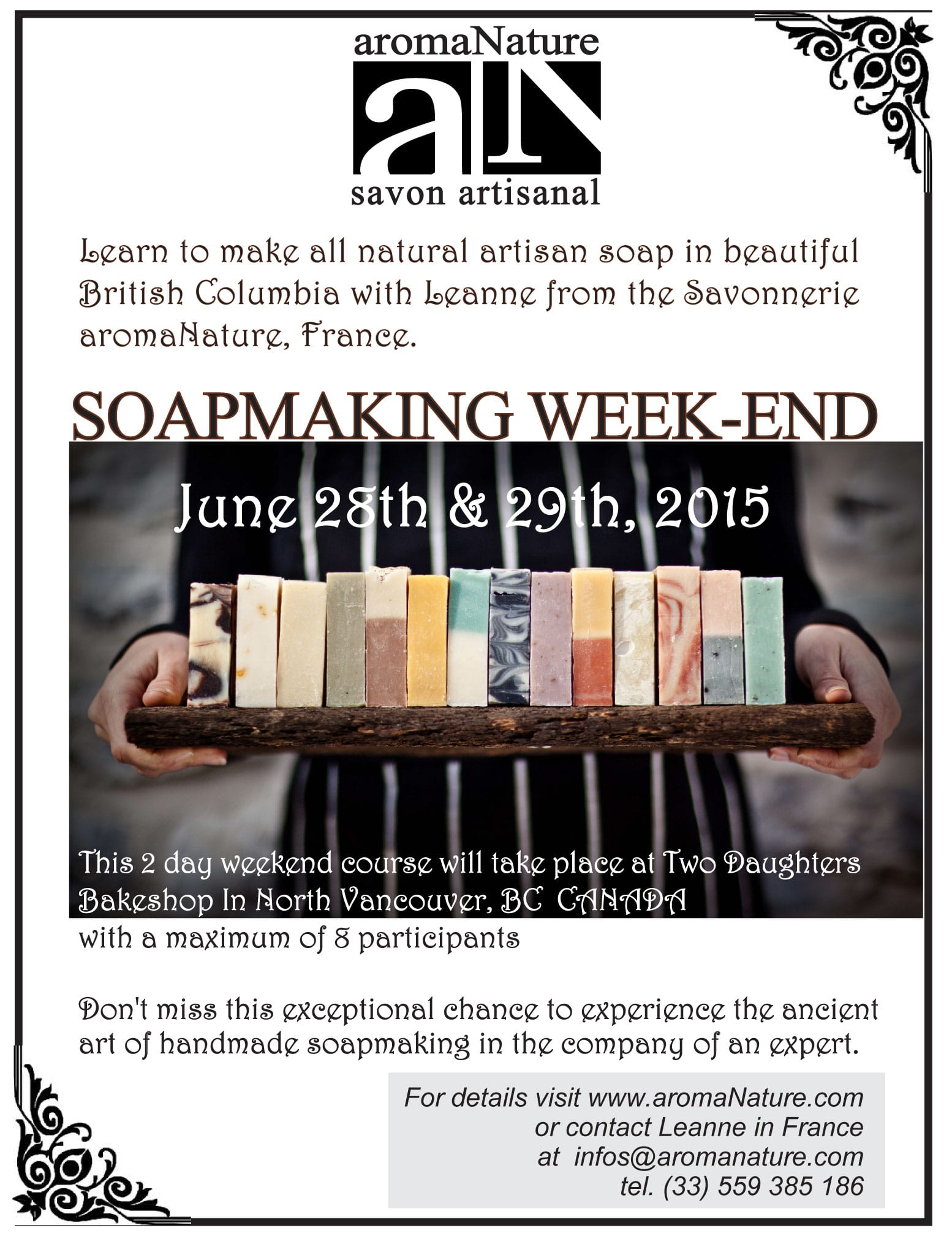 Artisan Soapmaking Course at the Two Daughters Bakeshop