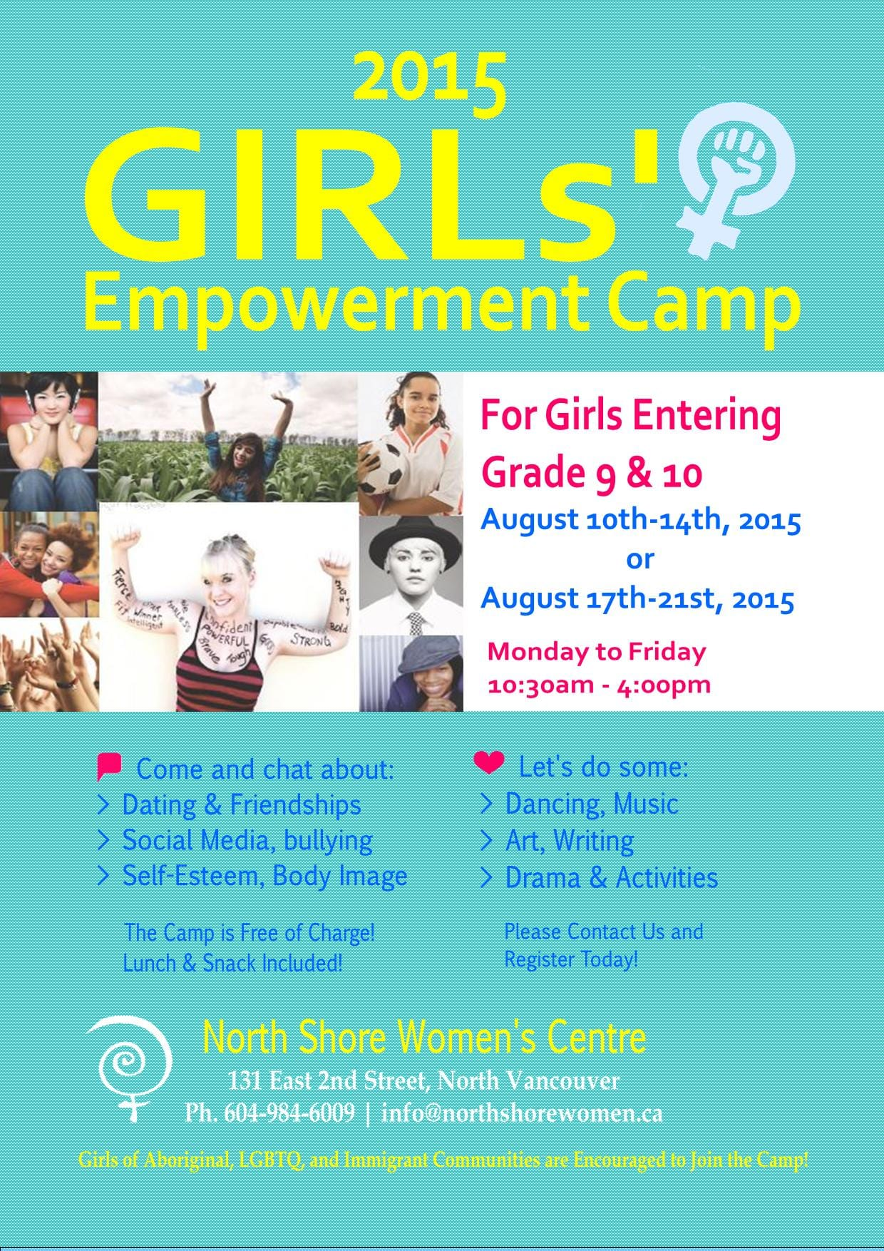 Girls Empowerment Camp at the North Shore Women's Centre
