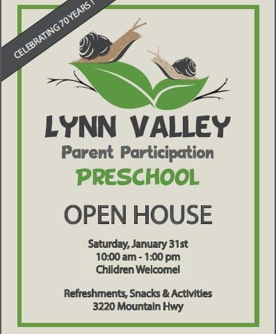 Lynn Valley Parent Participation Preschool Open House