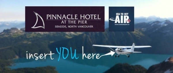 Pinnacle at the Pier Hotel Offer includes Flight for Two Sea to Sky
