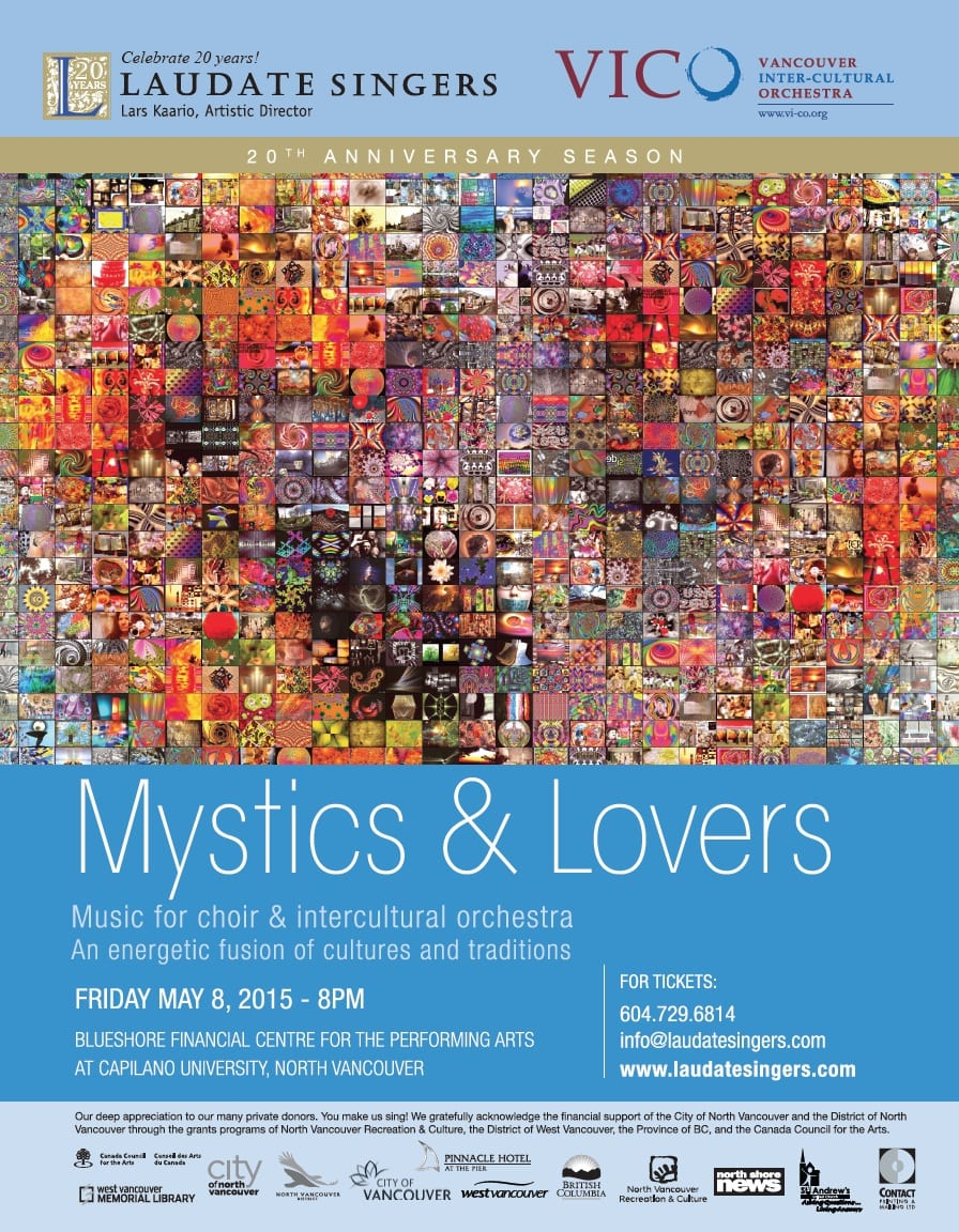 MYSTICS & LOVERS: Music for Choir & Intercultural Orchestra at Capilano University