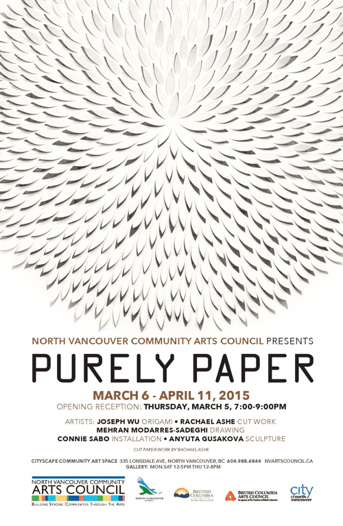 Purely Paper Exhibition at the CityScape Community Art Space