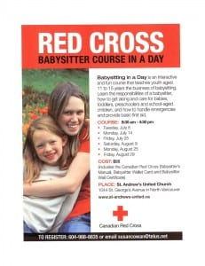 Red Cross Babysitting Course in a Day at St. Andrew's United Church North Vancouver