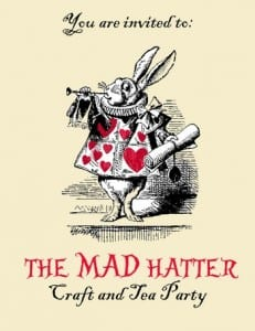 Mad Hatter Craft & Tea Party at CityScape Community Art Space North Vancouver