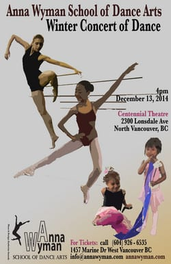 Winter Concert of Dance 2014 at the Centennial Theatre North Vancouver