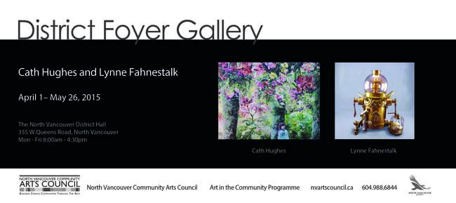 Cath Hughes & Lynne Fahnestalk at the District Foyer Gallery