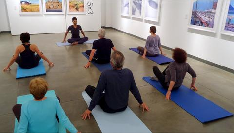 Yoga in the Gallery at Seymour Art Gallery North Vancouver