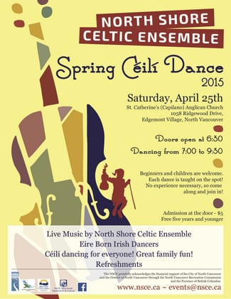 North Shore Celtic Ensemble Spring Céilí at St. Catherine's Anglican Church