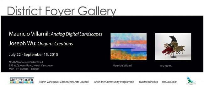 Mauricio Villamil & Joseph Wu at the District Foyer Gallery