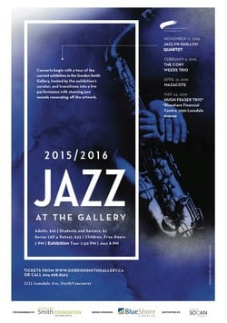 Jazz at the Gordon Smith Gallery of Canadian Art North Vancouver