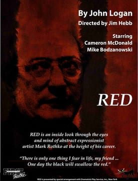 Red a Play at the Deep Cove Shaw Theatre North Vancouver
