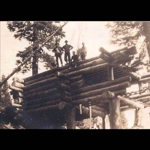 Building Our Log Cabin on Mount Seymour in 1948 at Parkgate Library