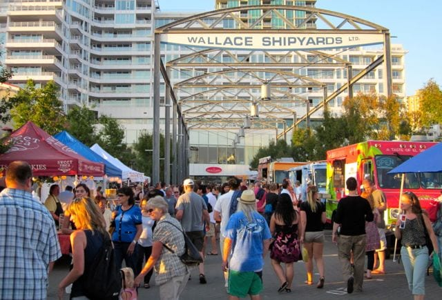 Shipyards Night Market at Shipbuilders' Square in North Vancouver