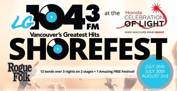 Honda Celebration of Light presents Shorefest 2014 featuring The Matinee and the Odds