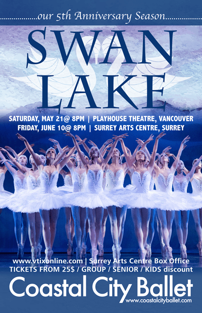 The Vancouver Playhouse Presents Swan Lake by Coastal City Ballet
