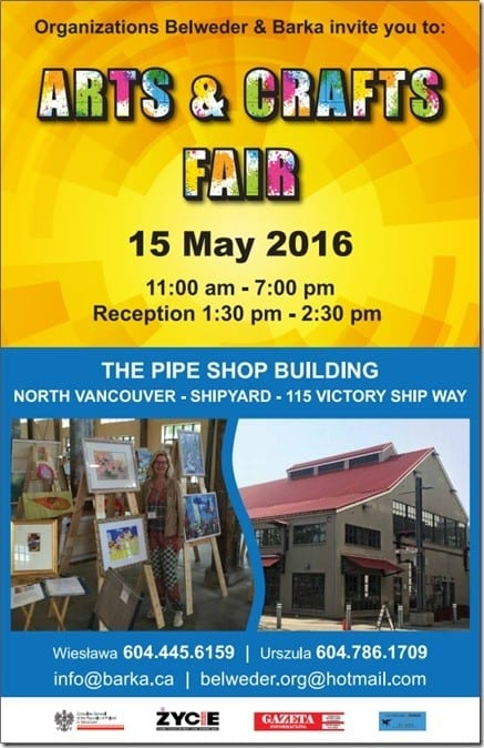 Arts & Crafts Fair at The Pipe Shop Building – North Vancouver Shipyard