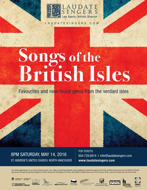 Songs of the British Isles – Laudate Singers at St. Andrew's United Church