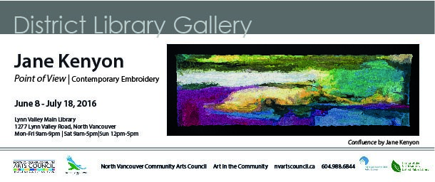 North Vancouver Community Arts Council presents Jane Kenyon 'Point of View'