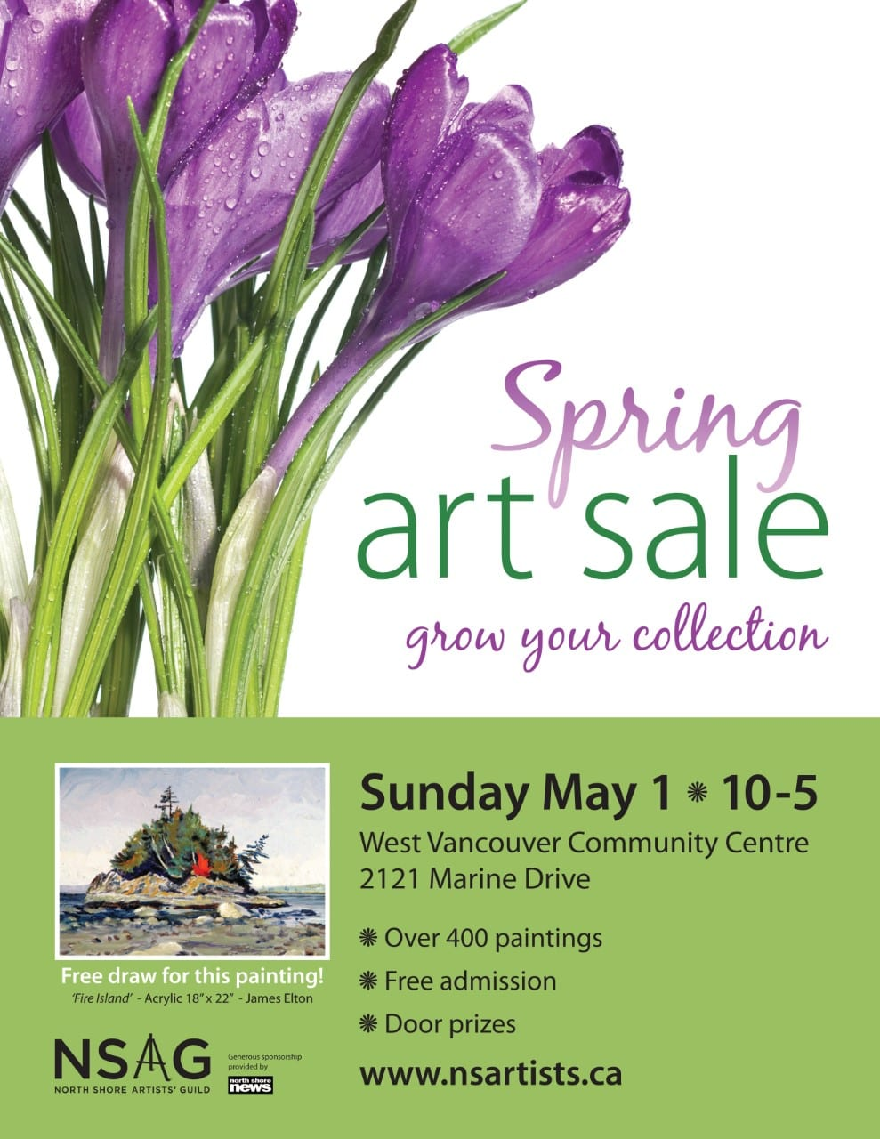 North Shore Artists' Guild Spring Art Sale at the West Vancouver Community Centre