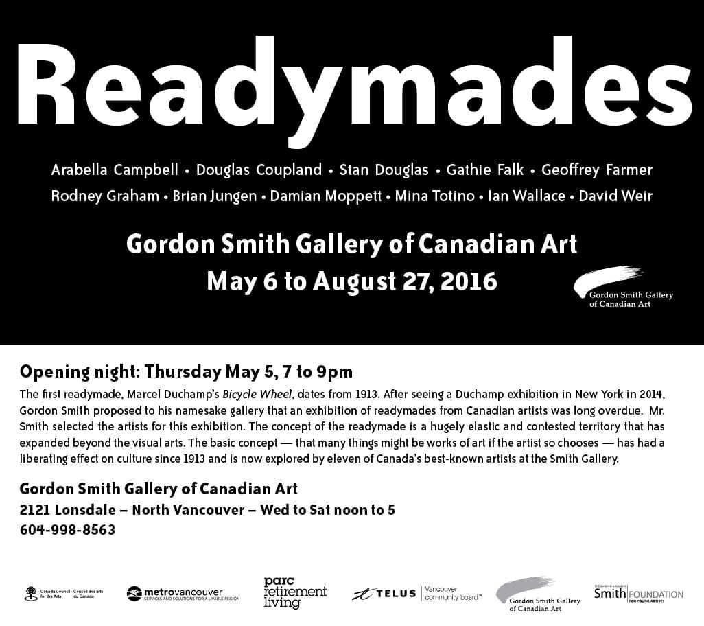Readymades – Summer Exhibition at the Gordon Smith Gallery of Canadian Art North Vancouver