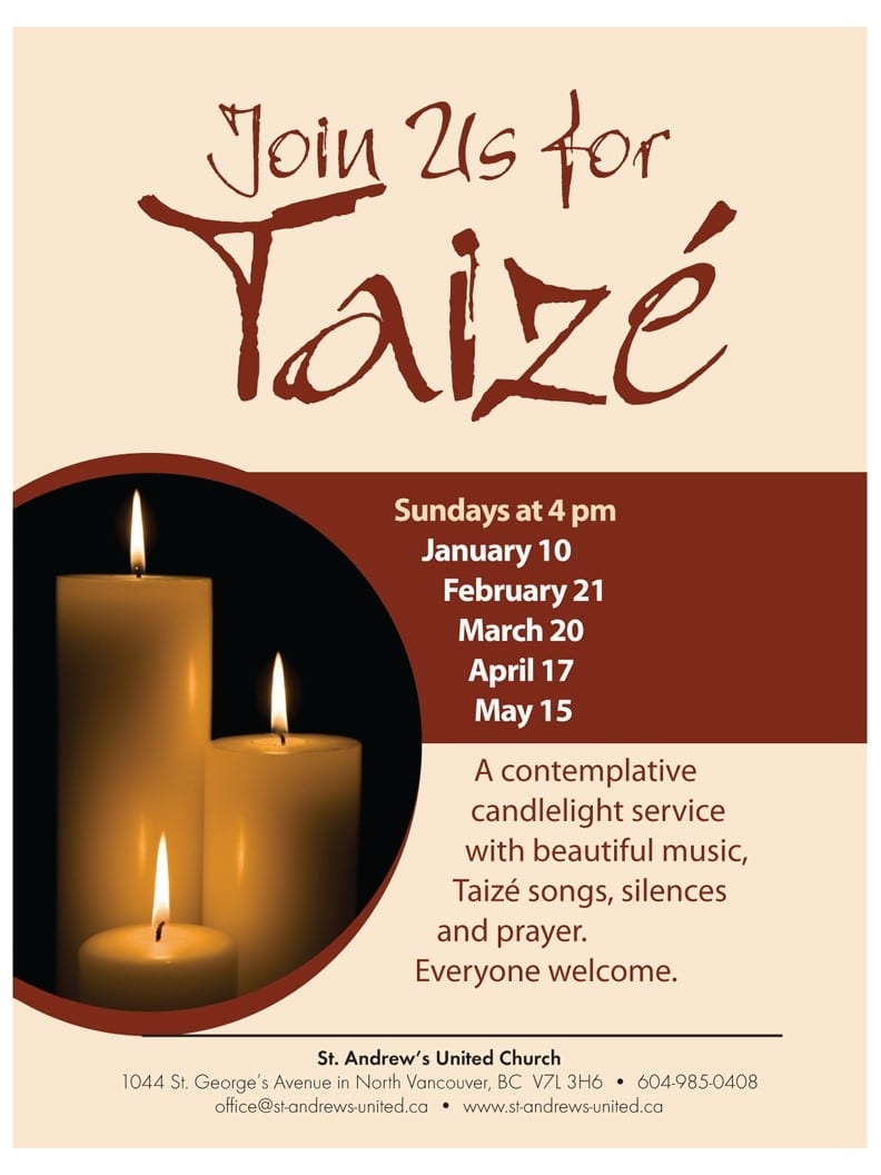 Taizé Contemplative Service at St Andrews United Church North Vancouver