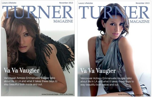 Emmannuelle Vaugier on Double Cover of Turner Magazine